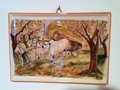 Copia su ceramica di dipinto di Giovanni Fattori