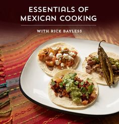 Turn up the spice! From ceviche and tacos to tamales and tortillas, you'll explore the region's robust seasonings and ingredients while you master traditional cooking techniques, famous recipes and more. #EssentialsofMexicanCooking https://www.craftsy.com/cooking/classes/essentials-of-mexican-cooking/463366?cr_linkid=Pinterest_COOK_OP_PAID_CLASS_Bayless&cr_maid=104099&regMessageId=2&cr_source=Pinterest&cr_medium=Social Engagement