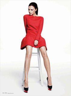 Elle US January 2012 Victoria Beckham Issue is Hot #oscardresses #oscarfashion