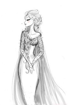 **Elsa sketch. I try to catch her haughty side ;)