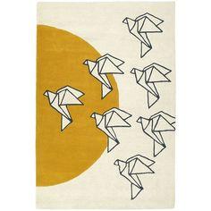Kaleen Origami Harper Geometric Wool Rug (£445) ❤ liked on Polyvore featuring home, rugs, wool pile rug, handmade wool rugs, colored rugs, handmade rugs and patterned rugs