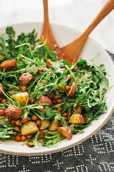 Roasted Potato and Chickpea Salad