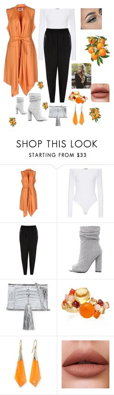 """Untitled #403"" by ericap61720 ❤ liked on Polyvore featuring MM6 Maison Margiela, ATM by Anthony Thomas Melillo, River Island, Qupid, Nancy Gonzalez, Daria de Koning and Alexis Bittar"