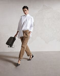 Seeking Fall Inspiration: blouse and pants from Brunello Cucinelli