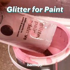 Hemway glitter paint additive 😍 make your walls sparkle 🤩🤩🤩I'd do it with silver glitter in deep blue paint and then do a mural of constellations on top so it looks like a ideas wedding diy videos crafts money for feel as if My Room, Girl Room, Glitter Bedroom, Glitter Nursery, Glitter Walls, Glitter Paint Wall Diy, How To Make Glitter Paint For Walls, Sparkly Walls, Glitter Accent Wall