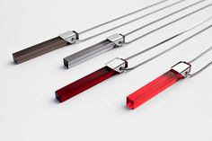 Modernista: Pendant made from stainless steel and acrylic glass by Katerina Reichova