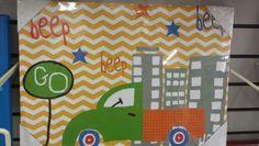 Truck boys room wall decorations