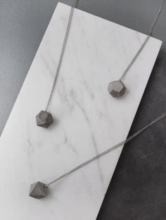 //concrete necklaces by frauklarer