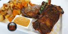 Μοσχαρίσιες μπριζόλες με πικάντικη σάλτσα στον φούρνο Steak, Pork, Kale Stir Fry, Steaks, Pork Chops