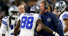 Cowboys give Dez Bryant game ball for playing after father's death. <3