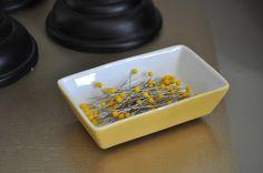 DIY magnetic pin dish