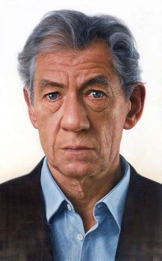 This is a painting of Ian McKellen (!) by Joongwon Jeong
