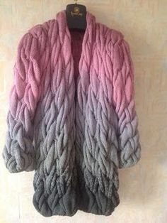 This item is unavailable Long Cardigan Coat, Chunky Knit Cardigan, Mohair Yarn, Arm Knitting, Sweater Fashion, Wool Sweaters, Knitting Patterns, Sweaters For Women, Dark Grey