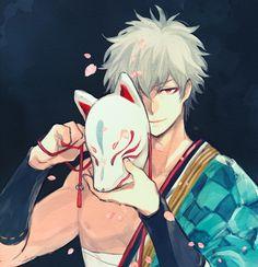 Sakata Gintoki Gin Tama Fox mask