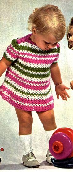 Vintage Toddler Crochet Dress PATTERN, 9-18 months, Girl Crochet Dress, Instant PDF Download