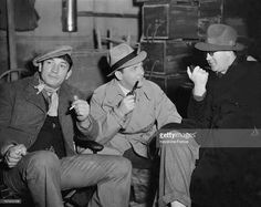 Victor McLaglen, Preston Foster & John Ford on set of The Informer, 1935. #DirectedbyJohnFord