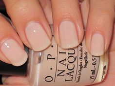 Nude OPI manicure for a low-key bride at her wedding.