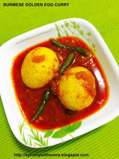 Curry And Spice Burmese Golden Egg Curry