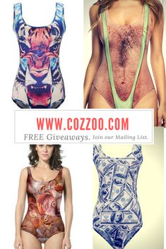 1a734f071b471 Hairy Chest - Women s Funny Sporty One-Piece Swimsuit - 3-D Printed