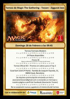 Nuevo torneo de Magic del Tessen!!  https://www.facebook.com/events/1034298946611616/