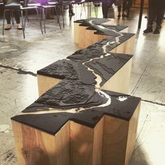 Willamette River, next top architects. More Willamette River, next top architects. Maquette Architecture, Landscape Architecture Model, Landscape Model, Architecture Drawings, Architecture Design, Landscape Architects, Exhibition Models, Exhibition Display, Arch Model