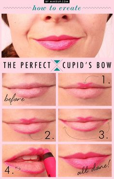 Pretty lips! Steps for getting the perfect Cupid's bow..  Make him fall in love;)