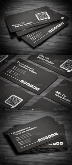 #Flat #Black #Business #Card #Design | #identity #branding #marketing #business #inspiration