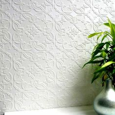 Maxwell Textured Vinyl Paintable Wallpaper - $30/roll. Would make an amazing (and cheap!) back splash!