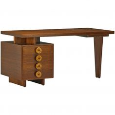 Uniqe Mahogany and Birch Desk
