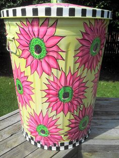 30 Gallon Decorative Hand Painted  by krystasinthepointe on Etsy, $179.00