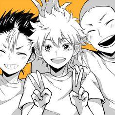 Nishinoya,Tanaka & Hinata