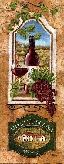 Vino Tuscana Fine-Art Print by Maria Donovan at UrbanLoftArt.com