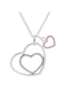 Pandora Delicate Heart Necklace Set CB412