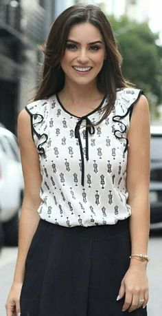 60 Fashion, Modest Fashion, Fashion Outfits, Womens Fashion, Blouse Styles, Blouse Designs, Look Office, Girlie Style, Business Casual Attire