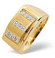 The Diamond Store.co.uk Onyx and 0.05CT Diamond Ring 9K Yellow Gold Onyx amp