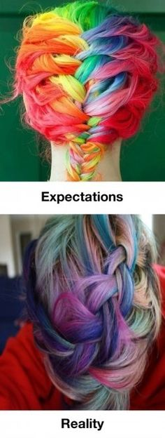 I love braids.  Wish I wasn't too old to have rainbow hair.