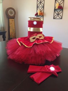 I think this might be the winner, I can totally make this. Iron man inspired tutu dress by bumblebugbowtique on Etsy No Sew Tutu, Diy Tutu, Halloween Costumes For Girls, Halloween Kids, Halloween 2016, Iron Man Girl, Tutu Costumes, Costume Ideas, Helloween Party