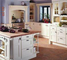 diseño cocina paredes color lila