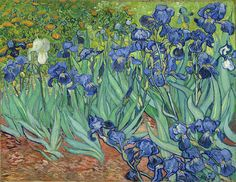 I'm inspired! Irises (1889, oil painting) by Vincent van Gogh, featured at ArtistsNetwork.com with Ever Yours, a book of van Gogh's personal letters. #vanGogh #painting #art