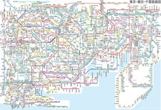 Here's a map of the Tokyo metro to help you find your way around. | 16 Maps Of Tokyo That'll Make Your City Seem Insignificant