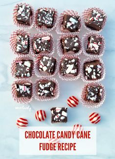 Treat yourself with this Chocolate Candy Cane Fudge!  SO easy to make and tastes amazing, perfect for the holidays!  #ad