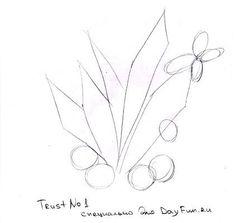 Как нарисовать ландыши карандашом поэтапно 1