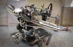 Fly singer sewing machine by ferrerini mechanical art