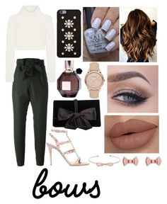 Put a Bow on It by emily5302 on Polyvore featuring polyvore, fashion, style, Roberto Cavalli, Vivienne Westwood Anglomania, Valentino, Ann Taylor, Burberry, Ted Baker, MICHAEL Michael Kors, Viktor & Rolf, GURU, OPI, clothing and bows