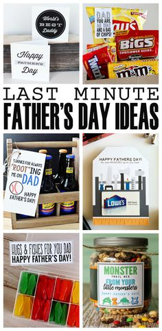 Awesome last minute Father's day gift ideas! Free printable gift tags and cards for fathers day.