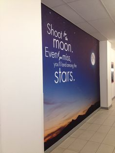 Shoot for the Moon 5m x 3m wall print by Wall Chimp