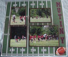 Football Layout Page 2 - Scrapbook.com
