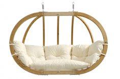 Hängesessel Globo Royal Chair aus Holz von Amazonas inkl. Kissen in versch…