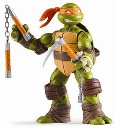 Playmates Toys TMNT Action Figures Mikey