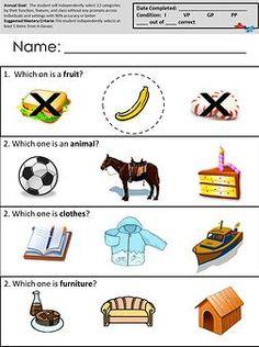 Receptive Language Worksheets
